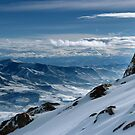 On the top of the World - Snowbasin Ski Slopes by Anton Oparin