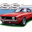 Camaro SS 1969 in Red by davidkyte