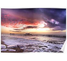Worthing Beach Sunrise 4 - Boxing Day 2012 - HDR  Poster