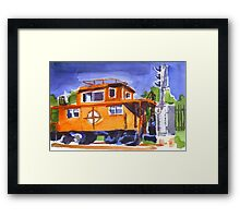 Caboose with Silver Signal Framed Print