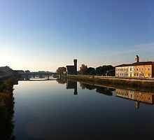 The Arno river, Pisa, Italy by peestols