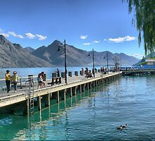 On the Wharf at Lake Wakatipu by Larry Lingard-Davis