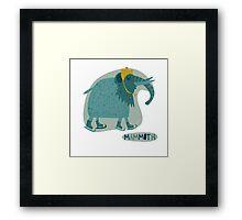 Mammoth Framed Print