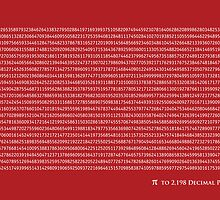 Pi to 2,198 decimal place by Michael Tompsett