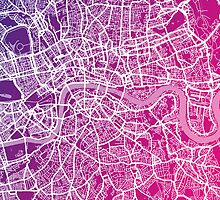 London England Street Map Art by ArtPrints