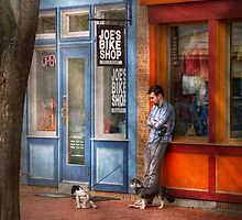 City - Baltimore, MD - Waiting by Joe's bike shop  by Mike  Savad
