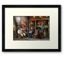 City - New York - Greenwich Village - The path cafe  Framed Print