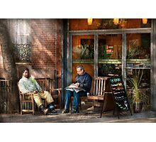 City - New York - Greenwich Village - The path cafe  Photographic Print