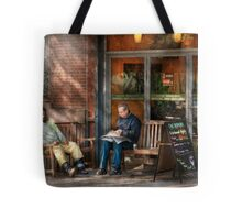 City - New York - Greenwich Village - The path cafe  Tote Bag