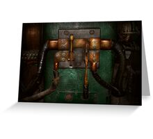 Steampunk - Electrical - Pull the switch  Greeting Card