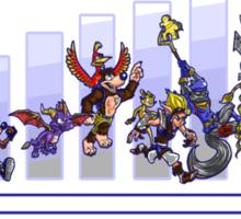 Evolution of the Platform Game Sticker