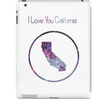 I love you California iPad Case/Skin