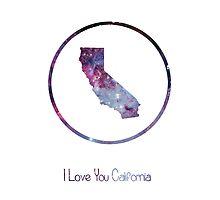 I love you California Photographic Print