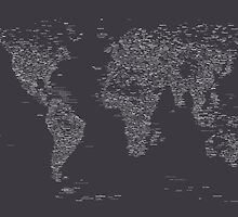World Map of Cities by Michael Tompsett