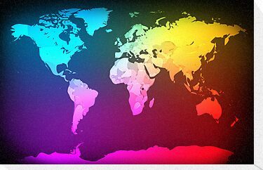 Abstract Map of the World by ArtPrints