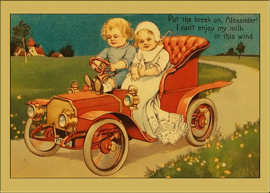 Vintage Children Couple Greetings by Yesteryears