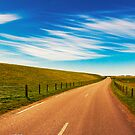 Peaceful evening road in Texel by pahas