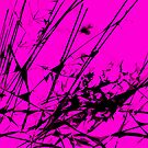 Strike Out Pink and Black Abstract by Natalie Kinnear