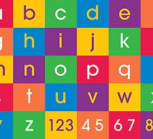 Alphabet Colors by ArtPrints