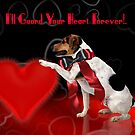 Cute Dog Valentine's Greeting Card - Jack Russell Terrier  by Moonlake
