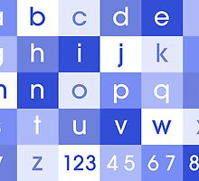 Alphabet Blue by ArtPrints