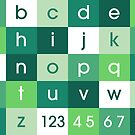 Alphabet Green by ArtPrints