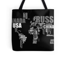 World Map in Words Tote Bag