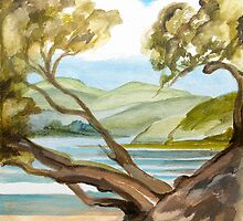 Summer at Coopers Beach by Patricia Howitt