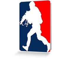 Major League Soldier! Greeting Card