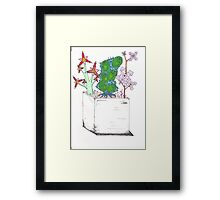 Abstract Flowers 2 Framed Print