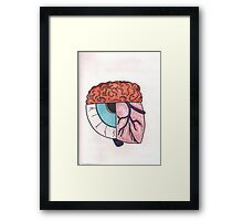 Brain_Eye_Heart Framed Print