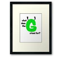 """""""G,"""" man Framed Print"""