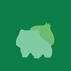 Minimalist Bulbasaur by emre801