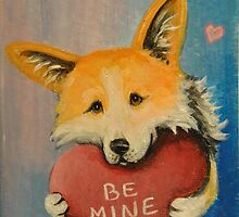 Pemroke Welsh Corgi~Dog~Be Mine~Valentine by shinerdog