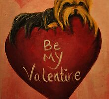 Yorkshire Terrier~Yorkie Dog~Be My Valentine by shinerdog