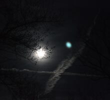 Moonbeams and contrails by msegall