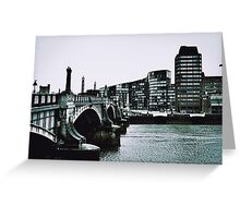 Cold day in London 1965 Greeting Card