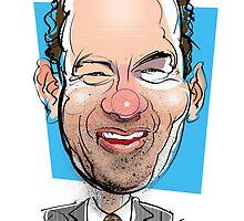 Portrait of Tom Hanks by drawgood