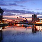 Glasgow Arc bridge at night by DerekWells