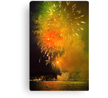 Geelong New Year's Fireworks 2012 Canvas Print
