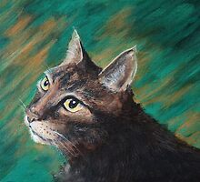 Cat Painting ( Kovu) by Lee Twigger