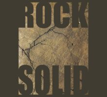 ROCK SOLID rock face Tee by astralsid
