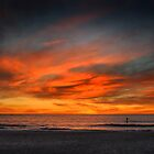 Lone Paddle Boarder at Sunset by EdPettitt
