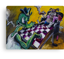 The Checker Game Canvas Print