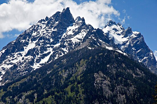 Grand Teton Blue Sky Peak by Michael Kirsh