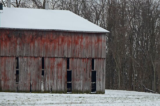 The Old Red Barn by mcstory