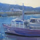 Boats at Wollongong wharf by Tash  Luedi Art