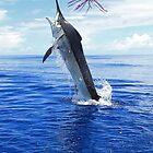 Marlin Canvas or Print - Giant Black Marlin by blackmarlinblog