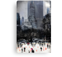 Skating In Gotham Canvas Print