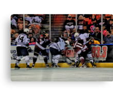Scramble For The Puck Canvas Print